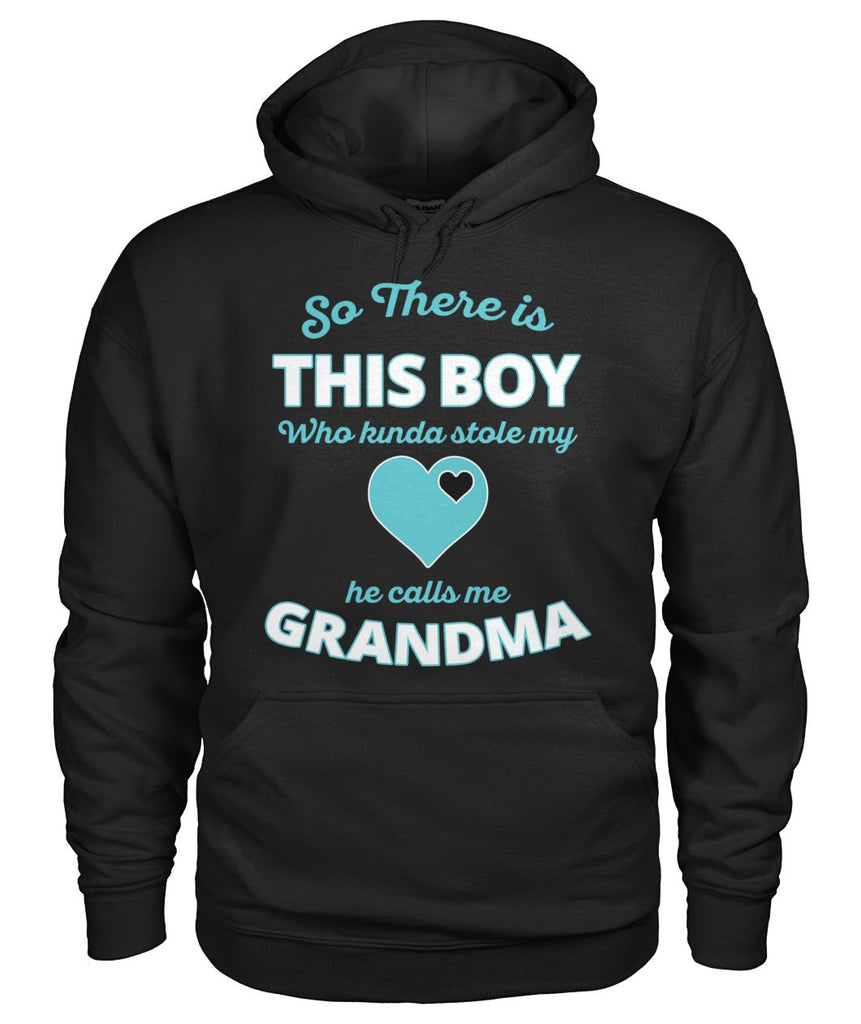 There Is This Boy-Grandma Hoodie Gildan Hoodie