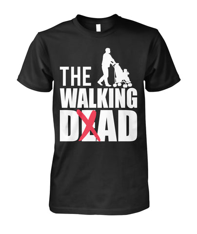 The Walking Dad Stroller Tee Unisex Cotton Tee