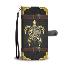 Load image into Gallery viewer, Tribal Sea Turtle Sun Moon Wallet Case
