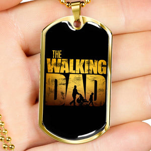 The Walking Dad Dog Tag