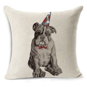 Party Pug Pillow Case