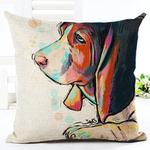 Load image into Gallery viewer, Cute Dog Artsy Throw Pillow Cover