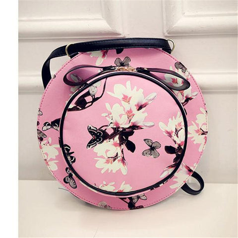 Fresh Style Hat Backpack Flower Cute Hat Shape Backpack Inclined Shoulder Bag Personality Popular Hot Sale Mochilas Femininas