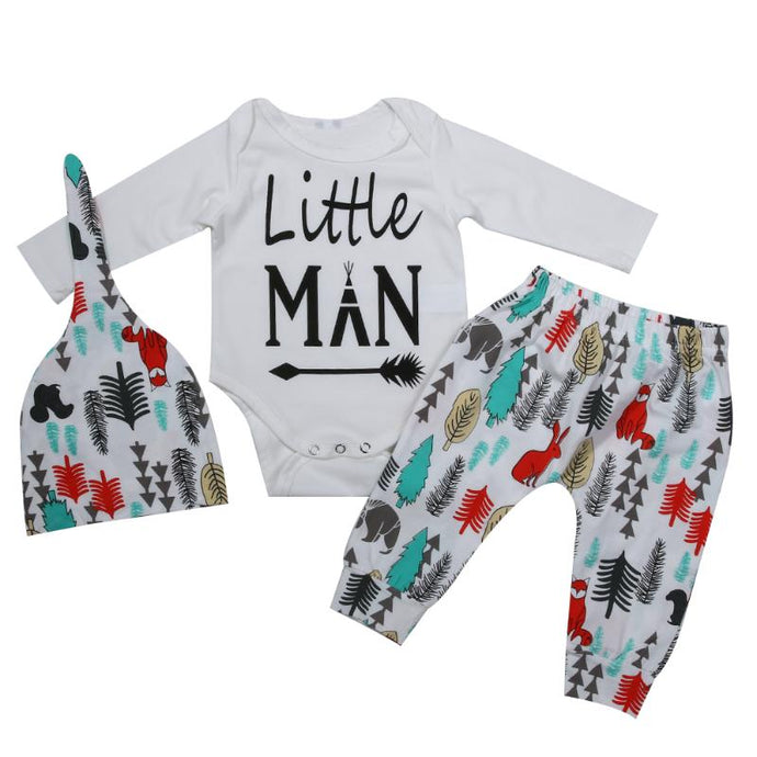 Baby Little Man Outfit and Hat