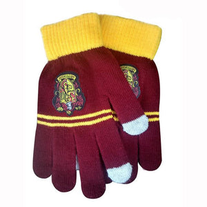 Houses Of Hogwarts Winter Gloves with Touch Screen Capability Gryffindor + Snitch Pendant with Chain