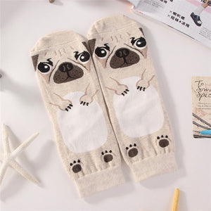 Pug Cute Cartoon Socks - FREE + S&H