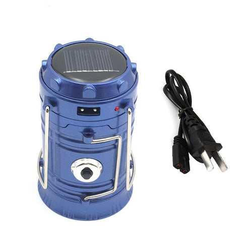 Rechargeable Solar Mini Lantern Survival Light + FREE SURVIVAL TOOL
