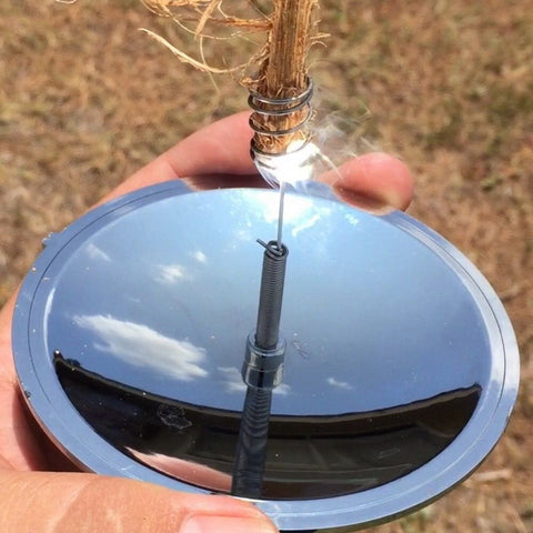 Camping Survival Solar Lighter Waterproof and Windproof Fire Starter
