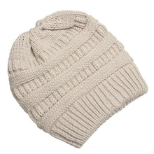 Load image into Gallery viewer, Beanie Ponytail Winter Hats For Women