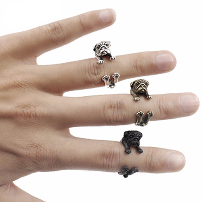 Pug Ring Adjustable Ring - FREE + S&H