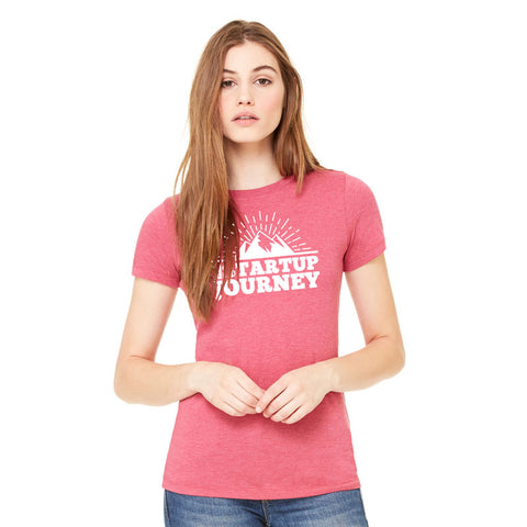 The Startup Journey Ladies Berry Tee