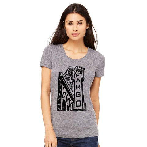 Downtown Fargo Ladies T-Shirt