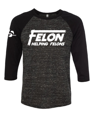 F5 Black Felon Baseball Tee