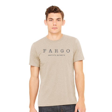 Fargo Latitude and Longitude Tee