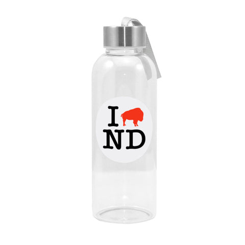 I Love ND Glass Bottle