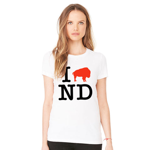 I Love ND Ladies T-Shirt