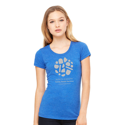 NDFBSA Circle Logo Ladies Triblend Tee