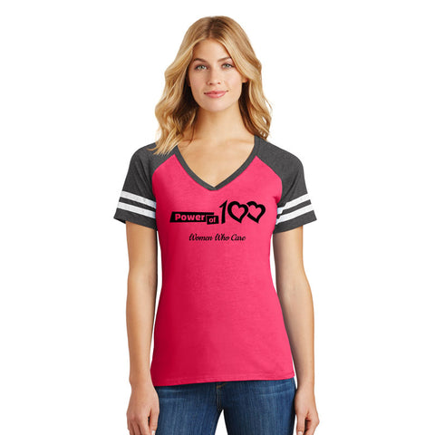 Power of 100 Women's Game V-Neck Tee