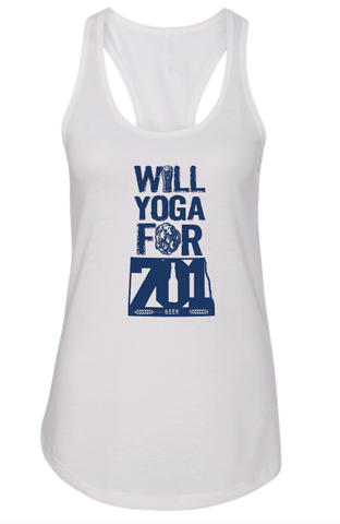 Will Yoga for 701 Beer Ladies Tank