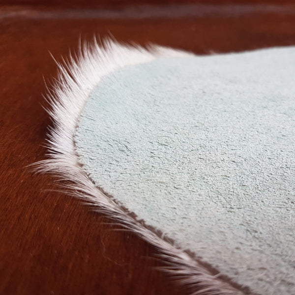 Natural Cowhide Rug - Extra Large Rich Brown & Touch of White