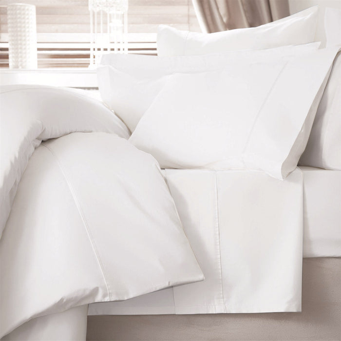 100% Sateen Weave Cotton 600TC Quilt Cover & Pillowcase - Ivory or White - By Belledorm - Bela Casa Home