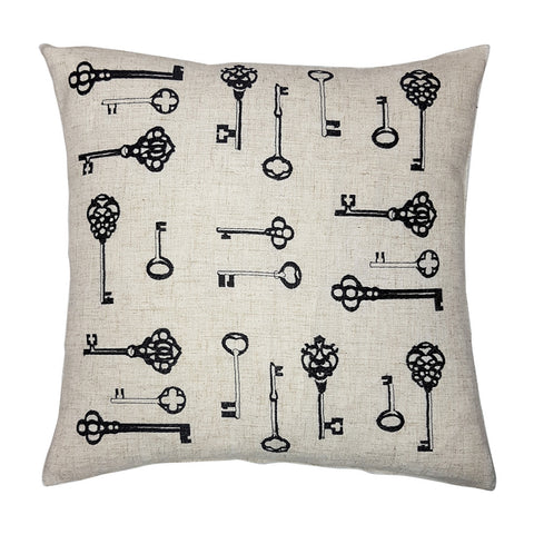 One Of A Kind Antique Key 43x43cm Cushion