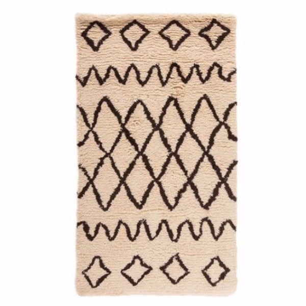 My Tribal Ivory Hand Woven Pure Wool Rug
