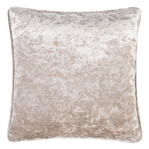 Crushed Velvet 17 x 17 Piped Golden Silk Cushions Covers