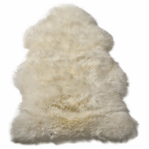 Sheep Skin Natural Wool Rug/Throw - Deep Pile Ivory White Extra Large