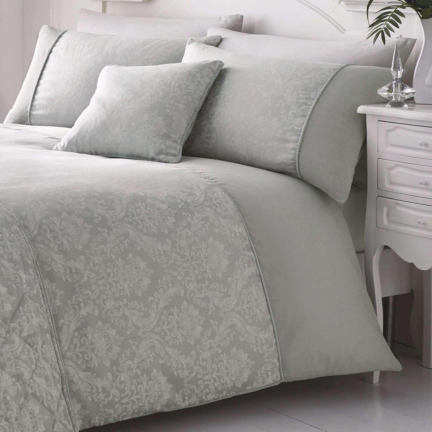 lovely jacquard set silver grey sets duvet cover pillowcase beautiful and bestduvetcovers triton uk of club