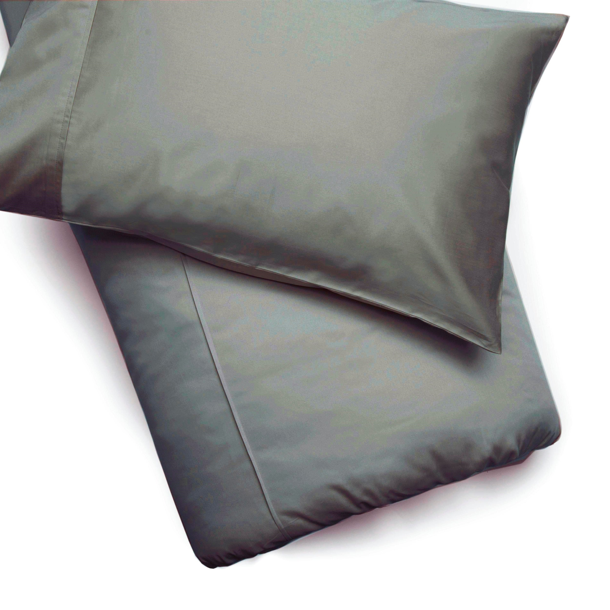 Plain Slate Grey Cotton 200 TC Duvet Cover