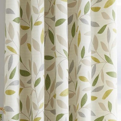 Bela Casa Home Inglewood Green Curtain Close Up