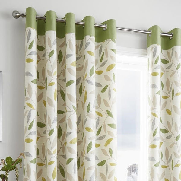 Bela Casa Home Inglewood Green Curtain Header
