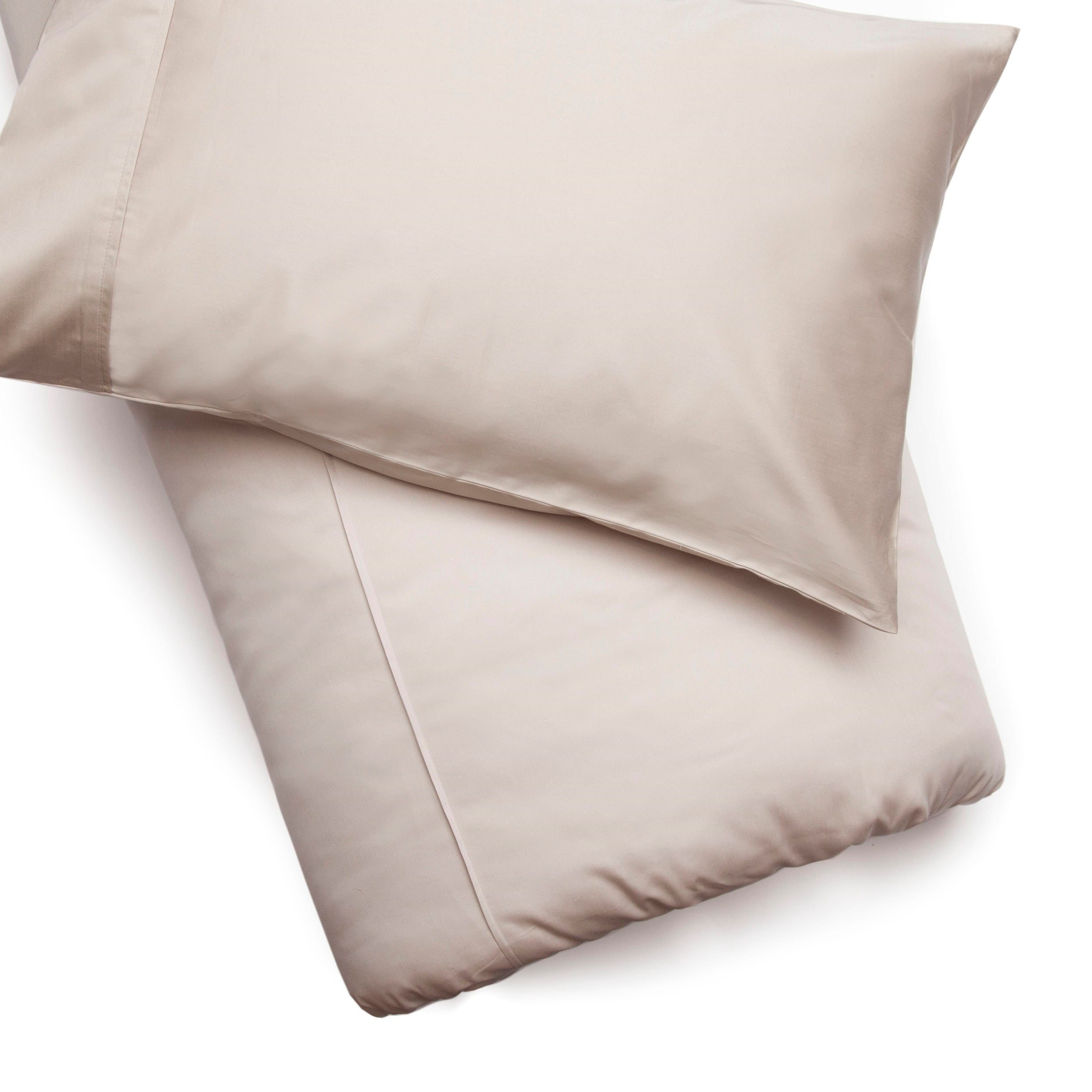 Plain Oyster Cotton 200 TC Duvet Cover