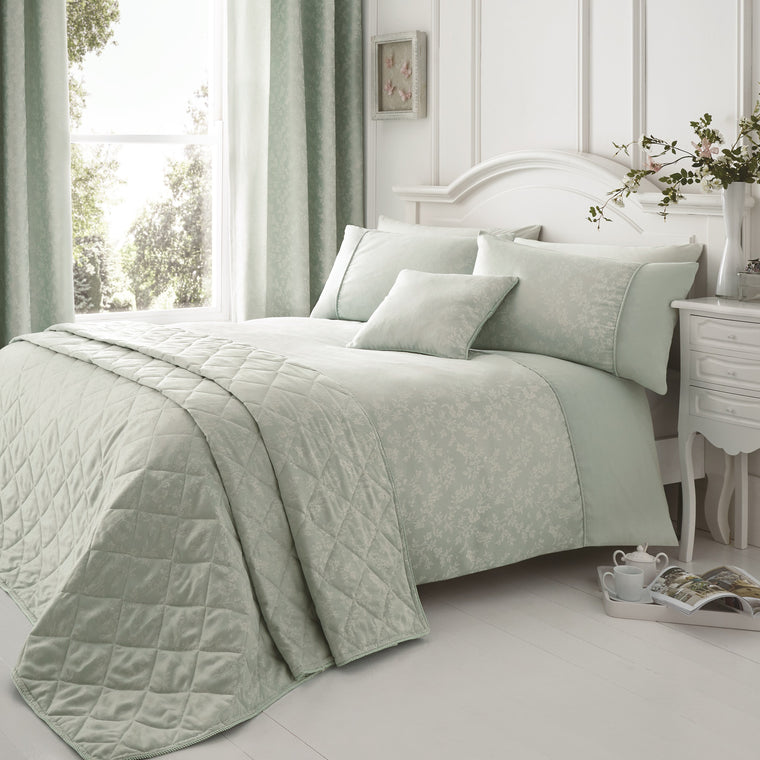 Bela Duck Egg Floral Duvet Cover