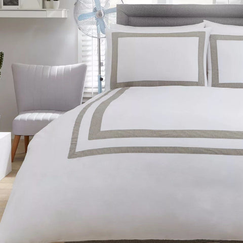 Norada White Cotton Quilt Cover Set