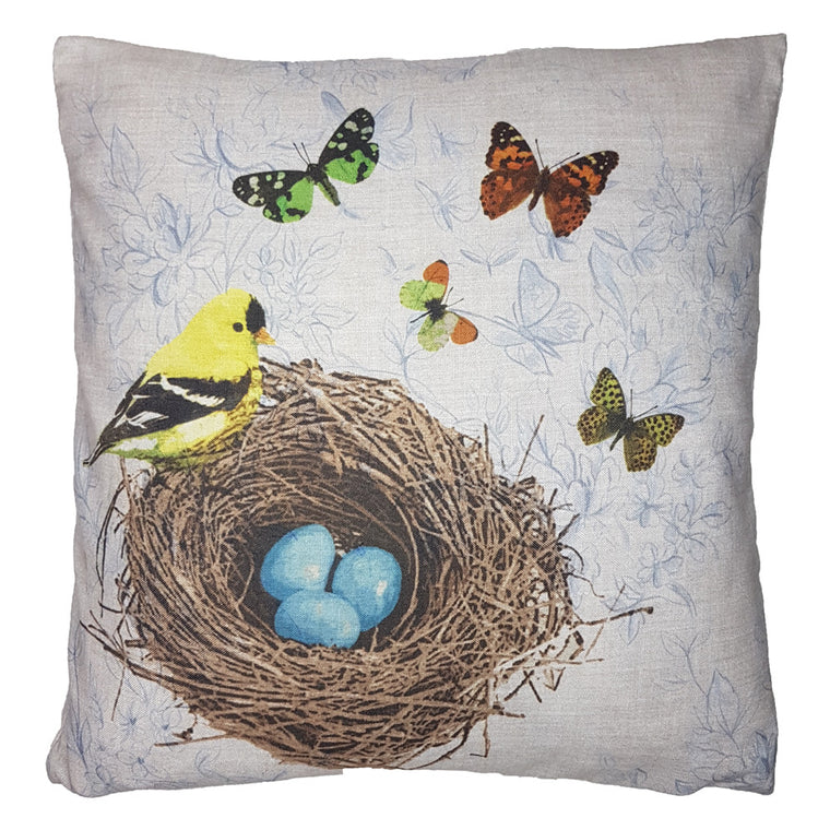 One Of A Kind Birds Nest 43x43cm Cushion