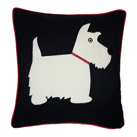 One Of A Kind Scottie Dog 43x43cm Black Cushion