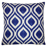 One Of A Kind Blue Ink 43x43cm Cushion