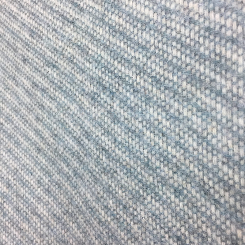 Powder Blue Diagonal Weave Pure New Wool Throw