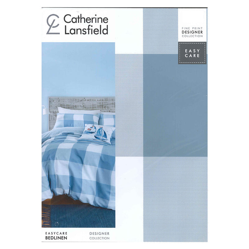 Boston Check Duvet Set - Blue