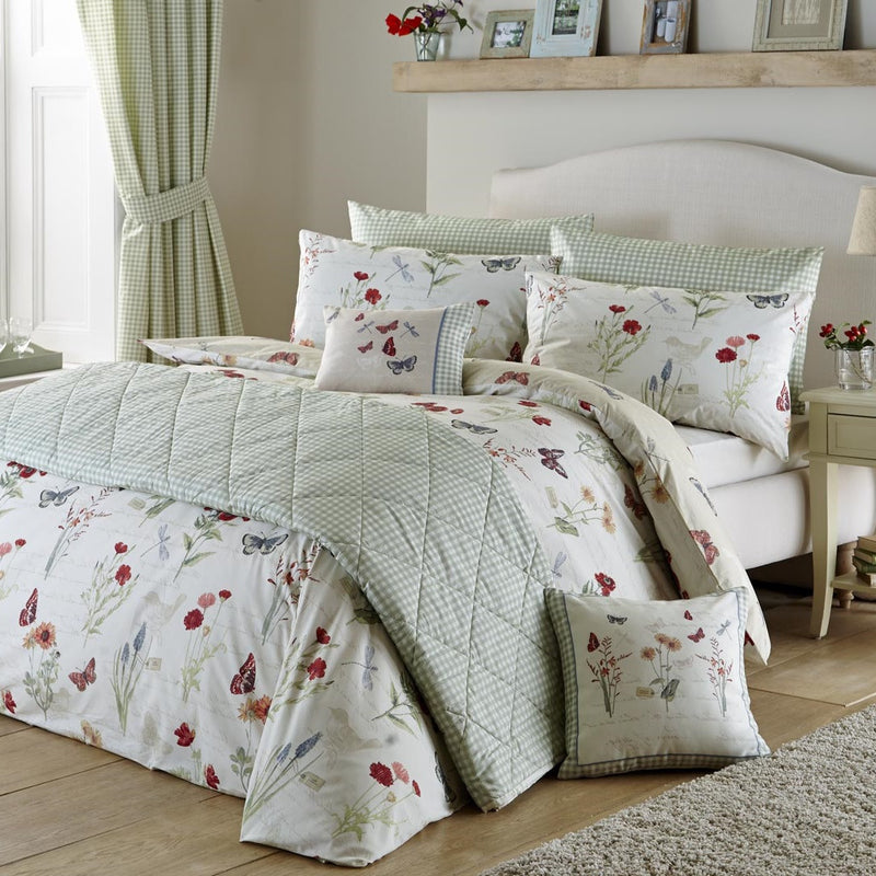 Button Street Farmhouse Butterfly Floral Duvet Cover