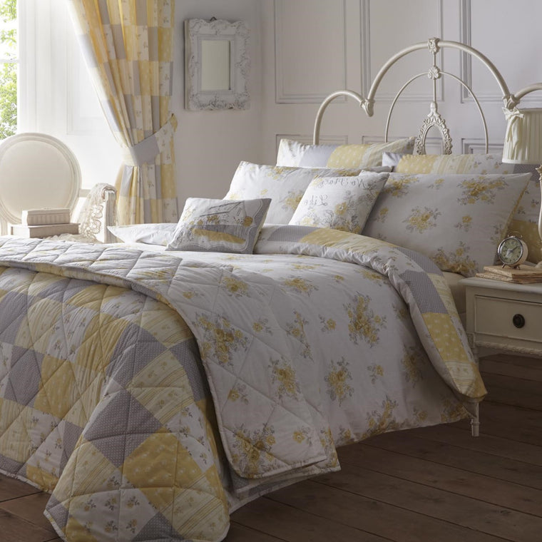 Patsy Floral Lemon Duvet Cover