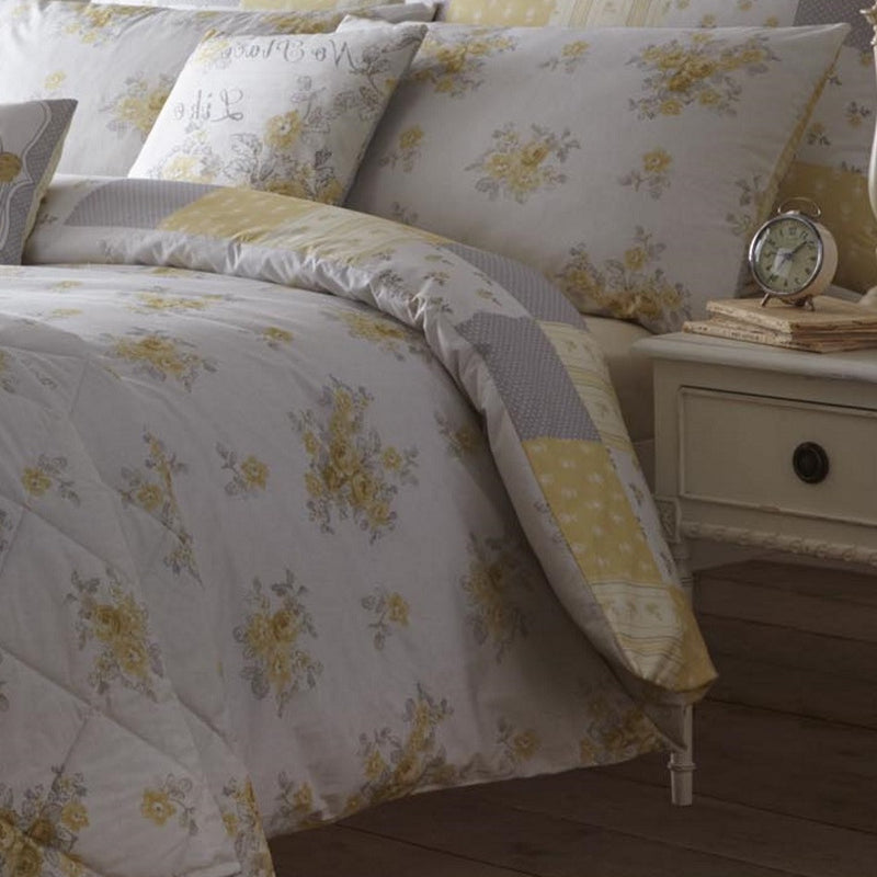 Button Street Sun Kiss Floral Lemon Duvet Cover