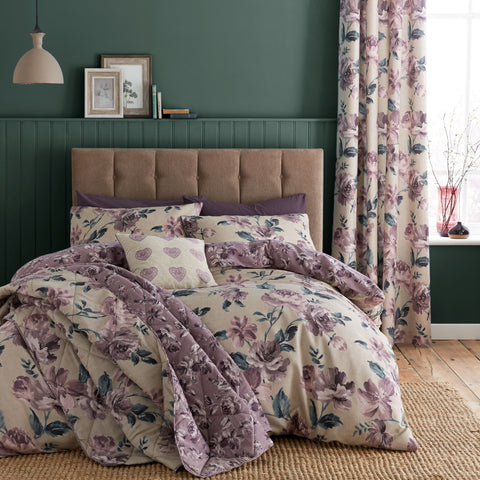 Button Street Antique Rose Plum Duvet Cover