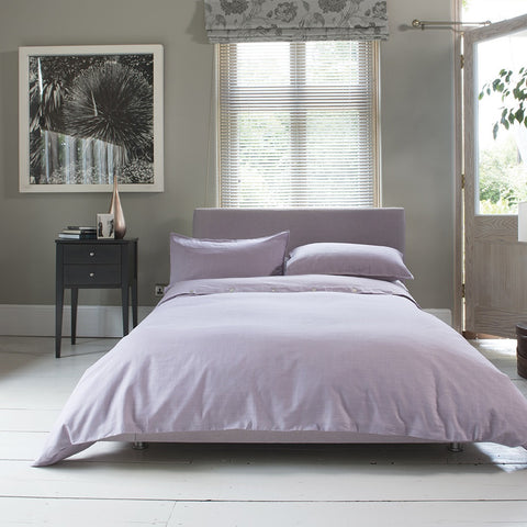 Carla Plain Raspberry Cotton Duvet Cover and Pillowcase Set