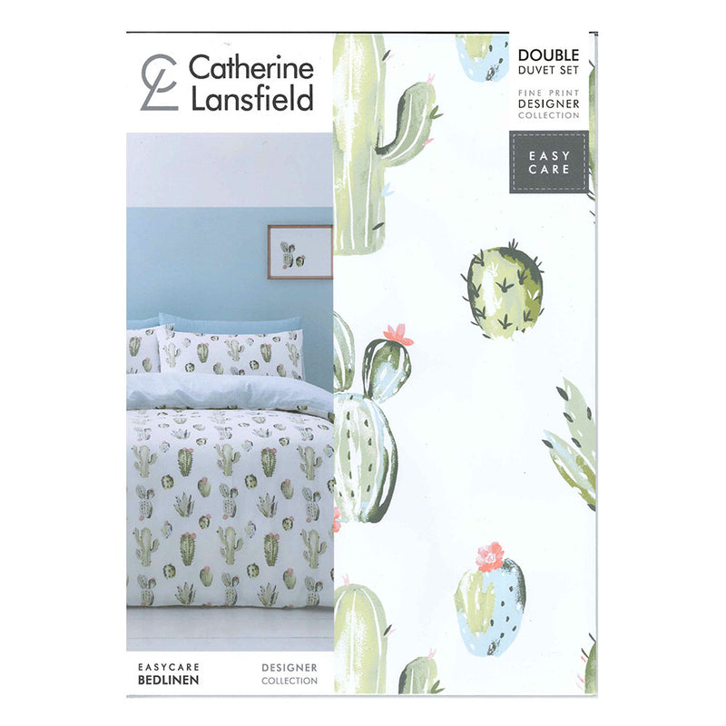 Cactus Duvet Set - Green