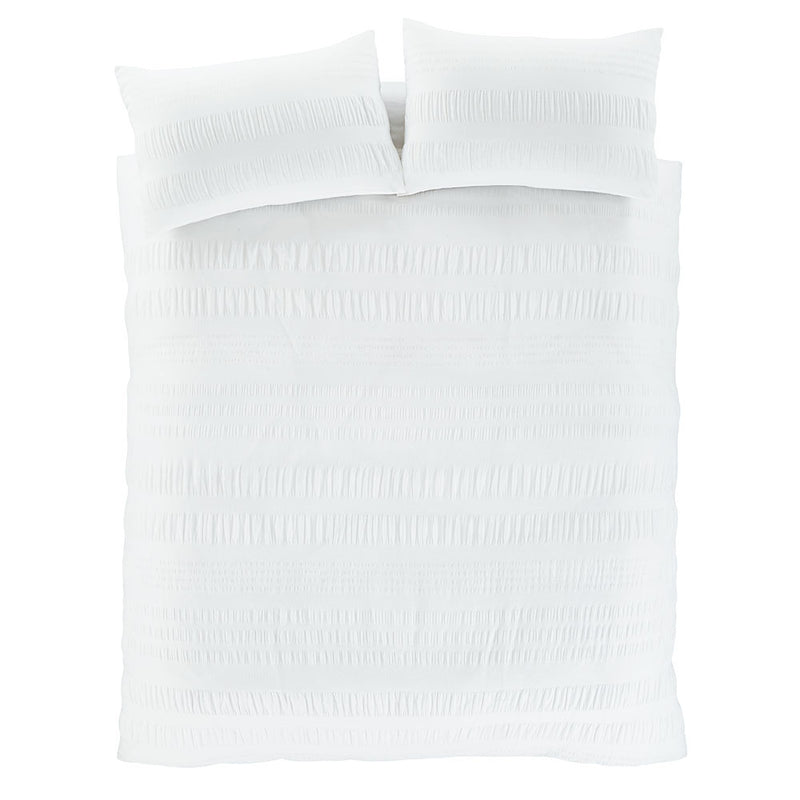 Seersucker Duvet Set - White