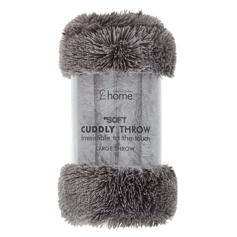 Large Cuddly Throw - Charcoal
