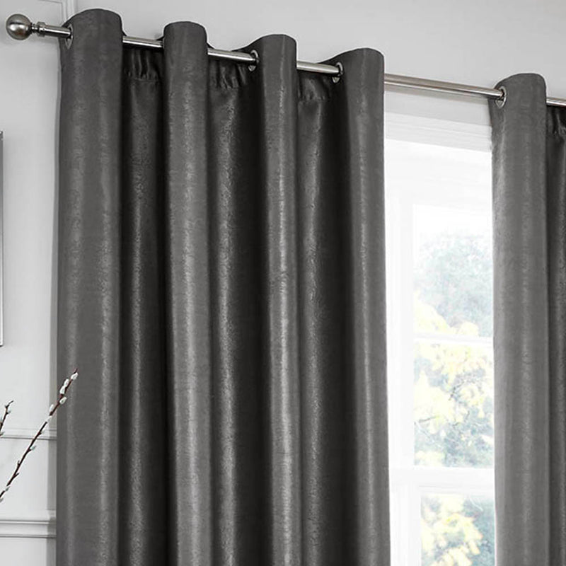 Chelsea Eyelet Curtains - Charcoal